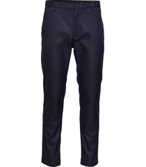 tapered elastic twill pant chino broek blauw calvin klein