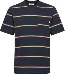 bobby stripe t-shirt t-shirts short-sleeved blauw wood wood