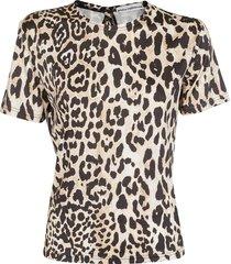 paco rabanne paco rabanne leopard printed t-shirt