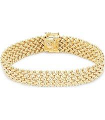 saks fifth avenue women's 14k yellow gold woven link bracelet