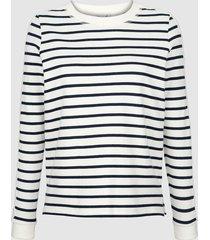 sweatshirt dress in benvit::ljusblå