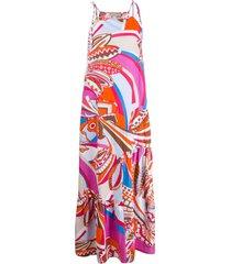 emilio pucci corsico print beach dress - pink