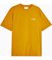 mens yellow mustard wash t-shirt