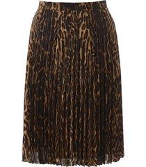 burberry pleated animalier skirt