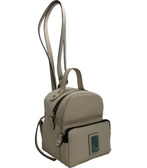 mochila de cuero natural leblu