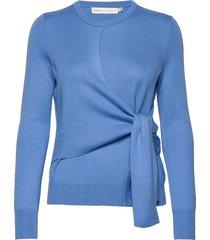emaleeiw tie pullover gebreide trui blauw inwear