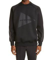men's and wander air jersey sweatshirt, size 3 - black