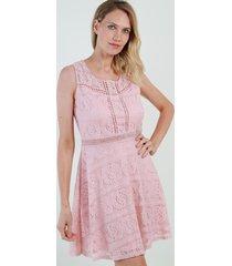 vestido de encaje sweet rosa night concept
