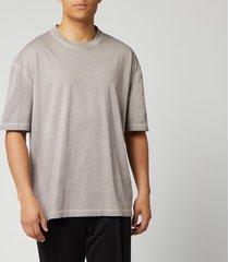 maison margiela men's resin garment dyed t-shirt - nude beige - it 50/l