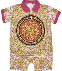 versace all-over print rompers