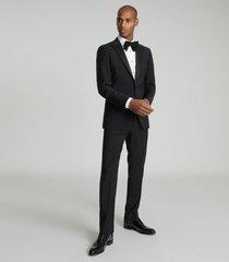 reiss poker - modern fit performance dinner jacket in black, mens, size 48