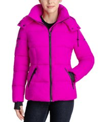 bcbgeneration stretch hooded puffer coat