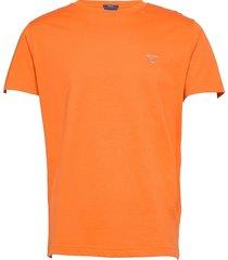 original ss t-shirt t-shirts short-sleeved orange gant