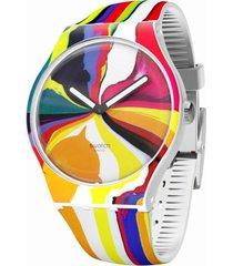 "reloj swatch suoz269s "" wide acres of time"" unisex multicolor"