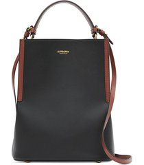 burberry mini bucket bag - black