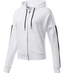buzo training reebok essentials linear logo mujer m 21828 blanco