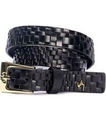 cinturón unifaz de cuero textura artesanal