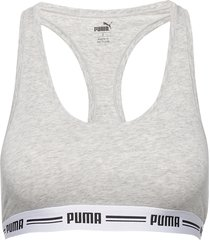 puma iconic racer back top 1p lingerie bras & tops bra without wire grå puma
