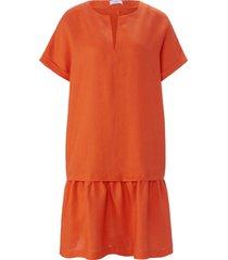 jurk 100% linnen korte mouwen van riani oranje