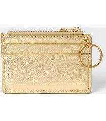 sammy metallic keychain wallet - gold