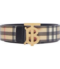 women's burberry tb monogram vintage check canvas belt
