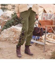sundance catalog women's remembered dreams pants in dark olive 12