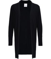 allude black long cardigan in wool and cashmere
