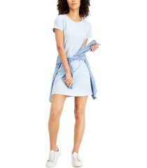 style & co petite cotton t-shirt dress, created for macy's