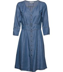 balicecr denim dress jurk knielengte blauw cream