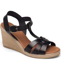 espadrilles 2665 sandalette med klack espadrilles svart billi bi