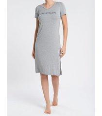 pijama feminino camisola longa cinza mescla calvin klein - s