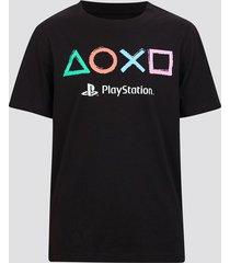 playstation t-shirt i bomull - svart