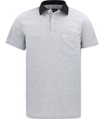 camiseta tipo polo gris hamer bolsillo bordado