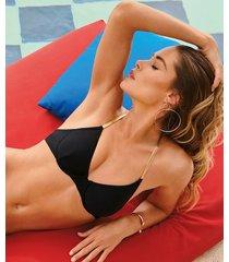 hunkemöller icke-formpressad bikiniöverdel med bygel paradise doutzen svart