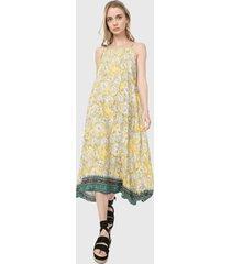 vestido amarillo-blanco-verde paris district