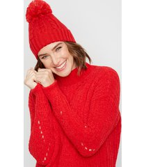 maurices womens solid chenille mock neck pullover sweater red