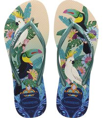 sandalias chanclas havaianas para hombre multicolor slim tropical
