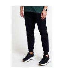 calça de sarja masculina jogger skinny preta