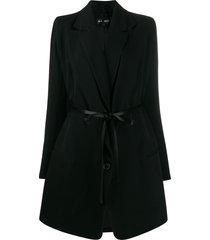 ann demeulemeester belted waist coat - black