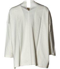 sofie dhoore long sleeve c-neck sweatshirt in fine fleece