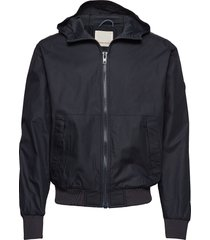 basswood hood jacket dun jack zwart knowledge cotton apparel