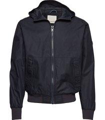 sporty look hood jacket - gots/vega dun jack zwart knowledge cotton apparel