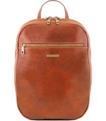 tuscany leather tl141711 osaka - zaino porta notebook in pelle miele