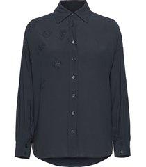 tamara strass shirt långärmad skjorta blå zadig & voltaire