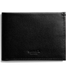 shinola slim bifold leather wallet in black at nordstrom
