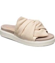 inuikii slipper knot micro shoes summer shoes flat sandals beige inuikii