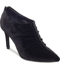 shoe stiletto velvet shoes boots ankle boots ankle boots with heel svart sofie schnoor
