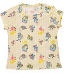 camiseta manga corta amarillo  offcorss