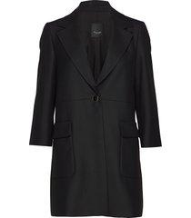 3596 - shelley new c wollen jas lange jas zwart sand