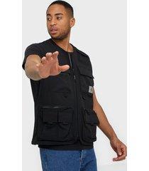 carhartt wip elmwood vest jackor black